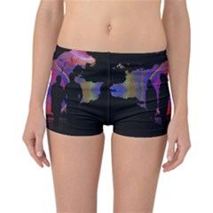 Abstract Surreal Sunset Reversible Bikini Bottoms
