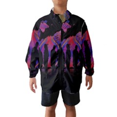 Abstract Surreal Sunset Wind Breaker (Kids)