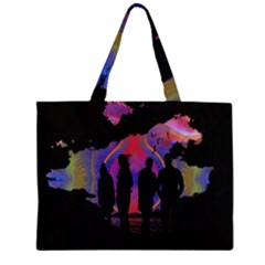 Abstract Surreal Sunset Large Tote Bag