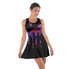 Abstract Surreal Sunset Cotton Racerback Dress