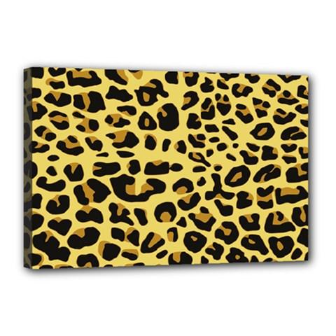 A Jaguar Fur Pattern Canvas 18  x 12