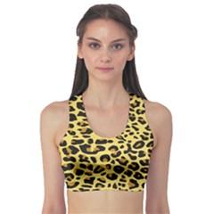 A Jaguar Fur Pattern Sports Bra