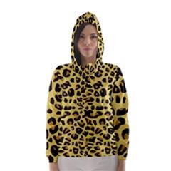 A Jaguar Fur Pattern Hooded Wind Breaker (women)