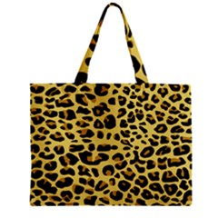 A Jaguar Fur Pattern Zipper Mini Tote Bag