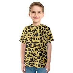 A Jaguar Fur Pattern Kids  Sport Mesh Tee