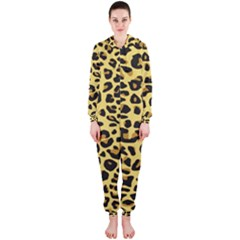 A Jaguar Fur Pattern Hooded Jumpsuit (ladies)