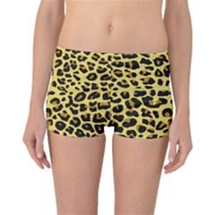 A Jaguar Fur Pattern Boyleg Bikini Bottoms