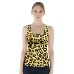 A Jaguar Fur Pattern Racer Back Sports Top