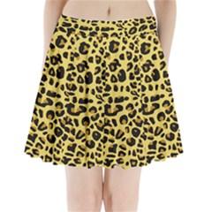 A Jaguar Fur Pattern Pleated Mini Skirt