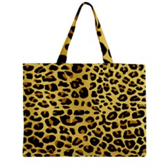 A Jaguar Fur Pattern Medium Zipper Tote Bag
