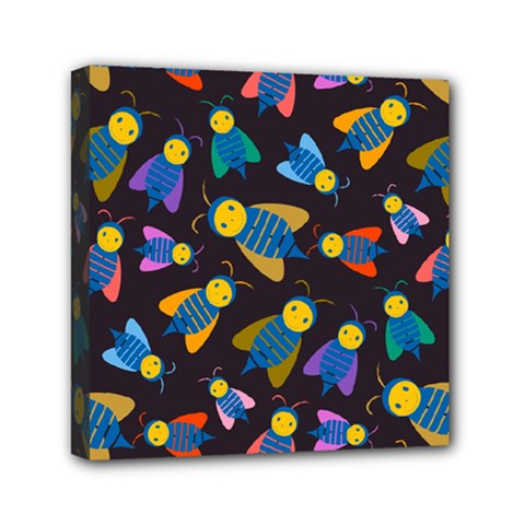 Bees Animal Insect Pattern Mini Canvas 6  X 6
