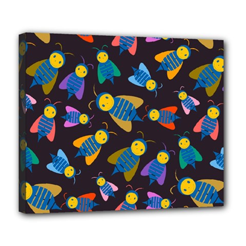 Bees Animal Insect Pattern Deluxe Canvas 24  X 20