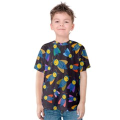 Bees Animal Insect Pattern Kids  Cotton Tee
