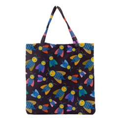 Bees Animal Insect Pattern Grocery Tote Bag