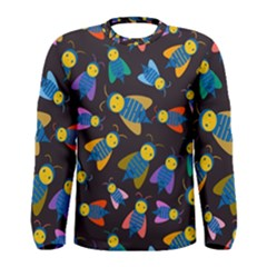 Bees Animal Insect Pattern Men s Long Sleeve Tee