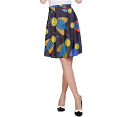 Bees Animal Insect Pattern A Line Skirt