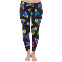 Bees Animal Insect Pattern Classic Winter Leggings