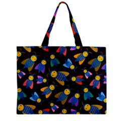 Bees Animal Insect Pattern Zipper Mini Tote Bag