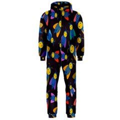 Bees Animal Insect Pattern Hooded Jumpsuit (men)