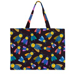 Bees Animal Insect Pattern Large Tote Bag