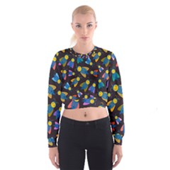 Bees Animal Insect Pattern Women s Cropped Sweatshirt