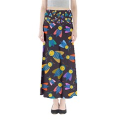 Bees Animal Insect Pattern Maxi Skirts