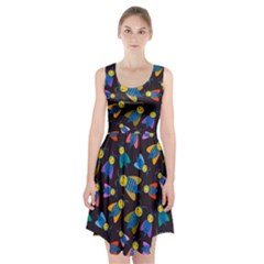 Bees Animal Insect Pattern Racerback Midi Dress
