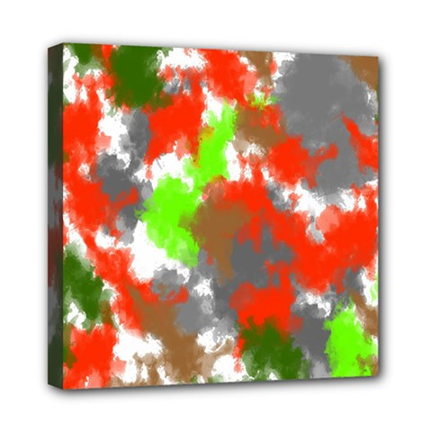 Abstract Watercolor Background Wallpaper Of Splashes  Red Hues Mini Canvas 8  X 8