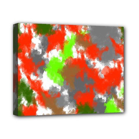 Abstract Watercolor Background Wallpaper Of Splashes  Red Hues Canvas 10  X 8