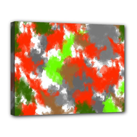 Abstract Watercolor Background Wallpaper Of Splashes  Red Hues Canvas 14  X 11