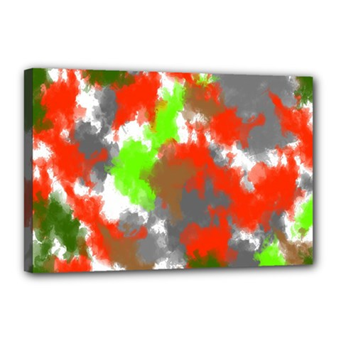 Abstract Watercolor Background Wallpaper Of Splashes  Red Hues Canvas 18  X 12