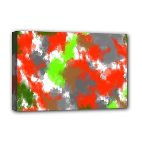 Abstract Watercolor Background Wallpaper Of Splashes  Red Hues Deluxe Canvas 18  X 12