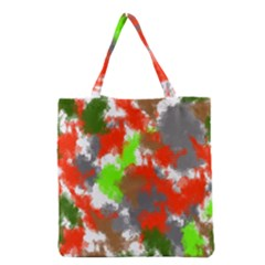 Abstract Watercolor Background Wallpaper Of Splashes  Red Hues Grocery Tote Bag
