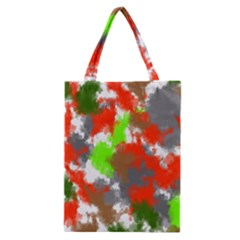 Abstract Watercolor Background Wallpaper Of Splashes  Red Hues Classic Tote Bag