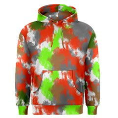 Abstract Watercolor Background Wallpaper Of Splashes  Red Hues Men s Pullover Hoodie