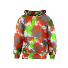 Abstract Watercolor Background Wallpaper Of Splashes  Red Hues Kids  Pullover Hoodie