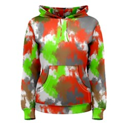 Abstract Watercolor Background Wallpaper Of Splashes  Red Hues Women s Pullover Hoodie