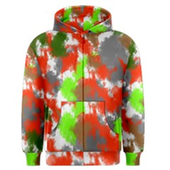 Abstract Watercolor Background Wallpaper Of Splashes  Red Hues Men s Zipper Hoodie