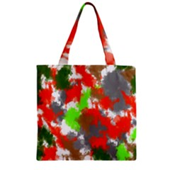 Abstract Watercolor Background Wallpaper Of Splashes  Red Hues Zipper Grocery Tote Bag