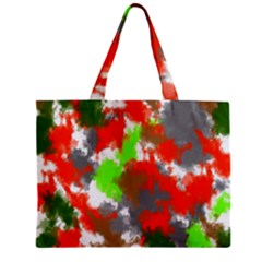 Abstract Watercolor Background Wallpaper Of Splashes  Red Hues Zipper Mini Tote Bag