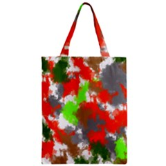 Abstract Watercolor Background Wallpaper Of Splashes  Red Hues Zipper Classic Tote Bag