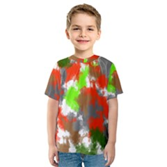 Abstract Watercolor Background Wallpaper Of Splashes  Red Hues Kids  Sport Mesh Tee