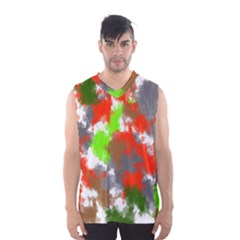 Abstract Watercolor Background Wallpaper Of Splashes  Red Hues Men s Basketball Tank Top