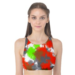 Abstract Watercolor Background Wallpaper Of Splashes  Red Hues Tank Bikini Top