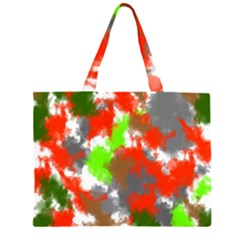 Abstract Watercolor Background Wallpaper Of Splashes  Red Hues Large Tote Bag