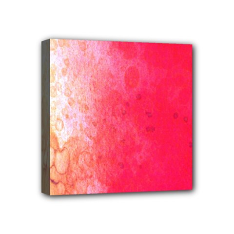 Abstract Red And Gold Ink Blot Gradient Mini Canvas 4  x 4