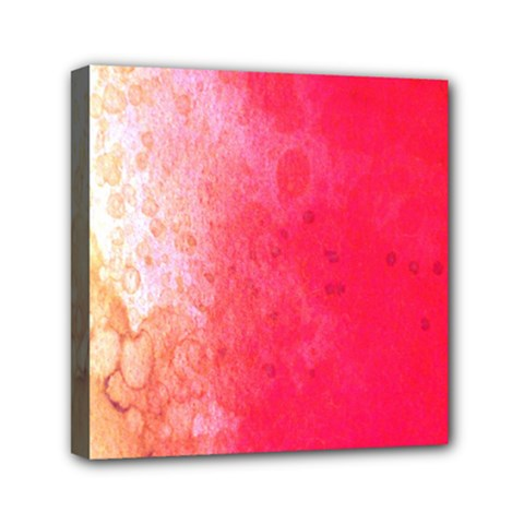 Abstract Red And Gold Ink Blot Gradient Mini Canvas 6  x 6