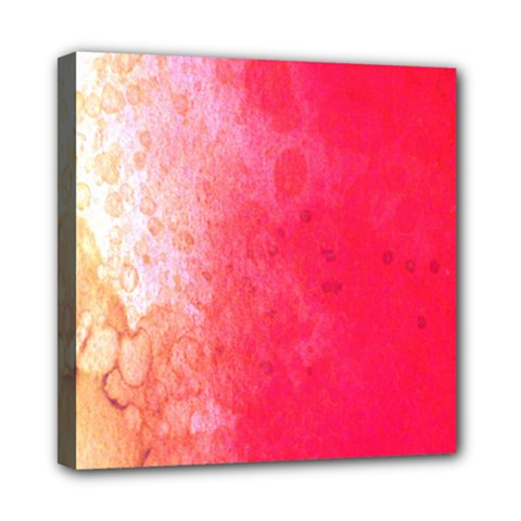 Abstract Red And Gold Ink Blot Gradient Mini Canvas 8  x 8