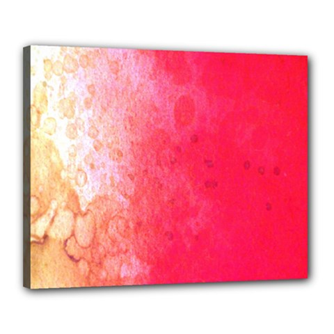Abstract Red And Gold Ink Blot Gradient Canvas 20  x 16