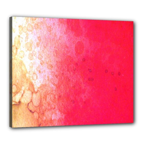 Abstract Red And Gold Ink Blot Gradient Canvas 24  x 20